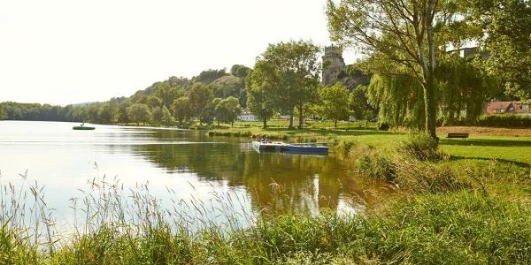 Bademöglichkeit am Donausee in Weitenegg