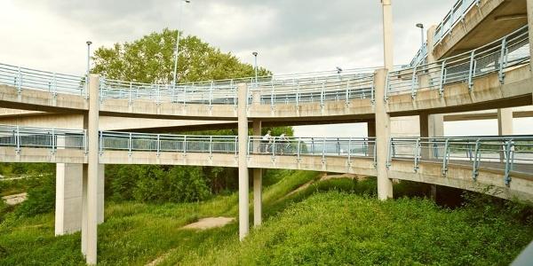 Radwegabfahrt in Klein-Pöchlarn