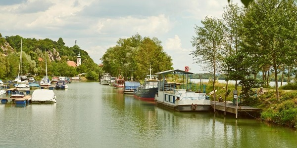 Hafen in Marbach an der Donau