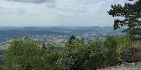 Blick vom Plattenstein nach Bad Kötzting