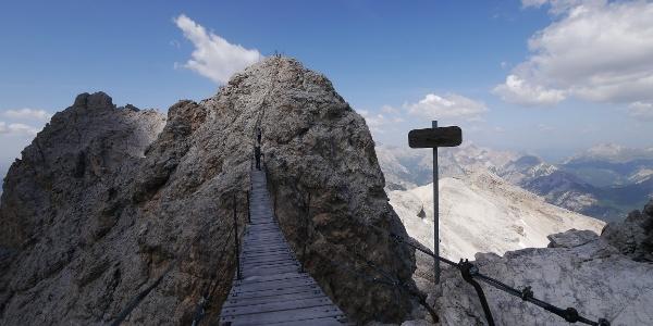Ponte Cristallo, die längste Hängebrücke in den Dolomiten