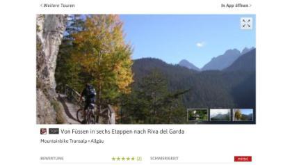 Foto von Mountainbike Transalp: Von Füssen in sechs Etappen nach Riva del Garda  • Allgäu (23.07.2015 16:17:57 #1)