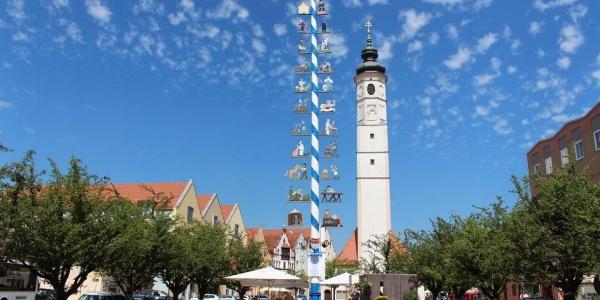 Historische Altstadt Dorfen, Blick auf Marienplatz