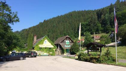 Start beim Landgasthof Neugebauer in Lölling