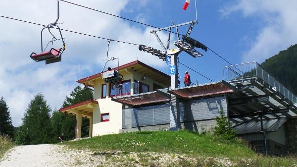 Die Bergstation der Hochplattenbahn