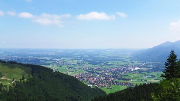 Aussicht von der Hochplattenbahn bzw. Staffn-Alm