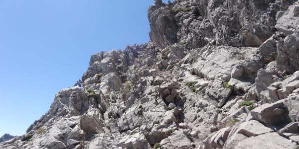 Abstiegsweg an der Südseite
