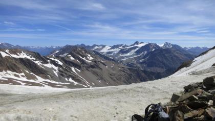 Blick Richtung Kurzras und Fineilspitze