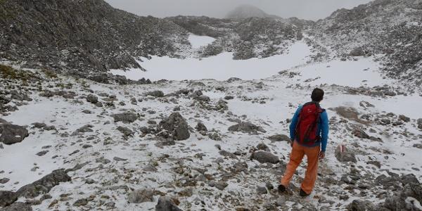 Bei Schnee und Nebel wird's wild im Tennengebirge.