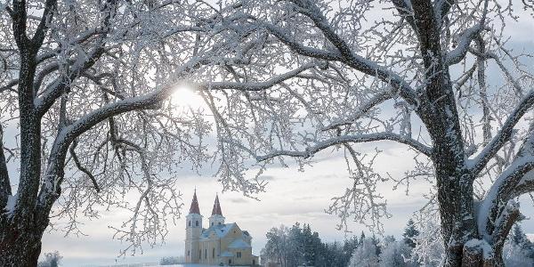 Wallfahrskirche Maria Schnee im Winter