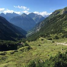 Blick Richtung Tal / Nach der oberen Roßgumpenalm.