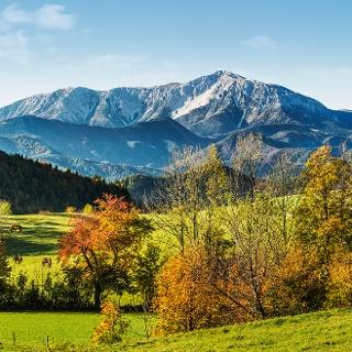 Blick auf den Schneeberg vom Jagasitz
