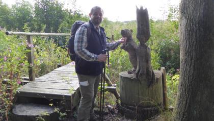 Wilde Biber am Holzsteg bei Steinach