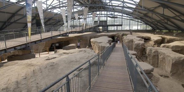 Alte Abbaustätte im Römerbergwerk