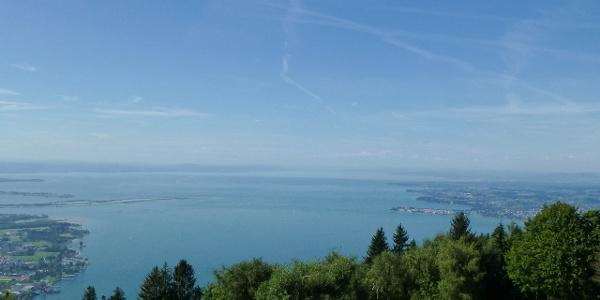 Bodenseeblick von der Aussichtsterrasse der Pfänder Bergstation