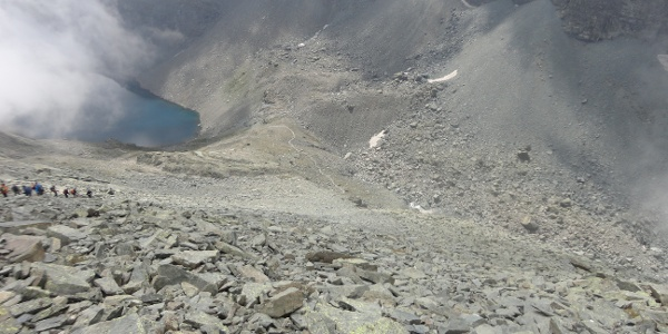 Blick vom Südgrat des Viso Mozzo auf den Colle de Viso