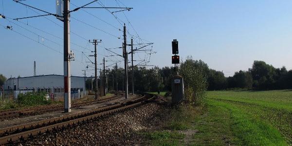 Die Einfahrtskurve der Westbahn zum Bahnhof