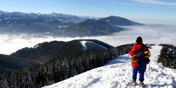 Schneeschuhwanderung Hinteres Hörnle - auf dem Weg zur Hörnlehütte