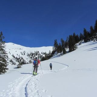 Skitour Hochblasse - Aufstieg