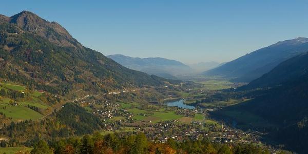 Ausblick vom Danielsberg auf das Lurnfeld