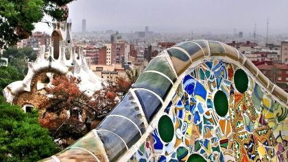 The view over Barcelona from Park Güell