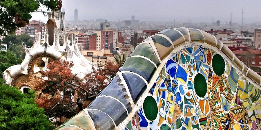 Barcelona mit Blick vom Park Güell aus