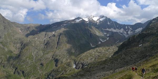Aufstiegsweg zur Mairspitze im unteren Teil