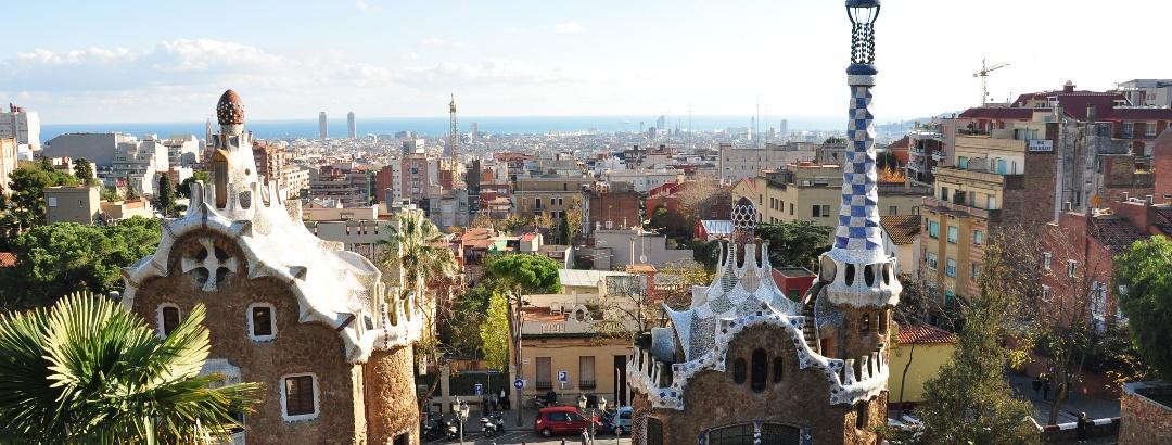 Vista su Barcellona da Parco Güell