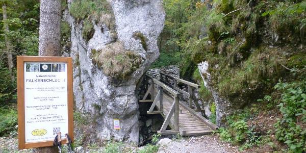 Eingang Falkenschlucht