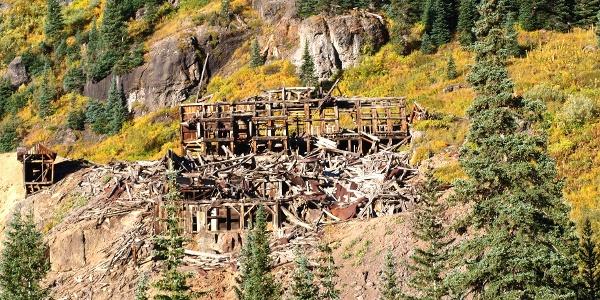 Start gegenüber einer alten Mine 3270m