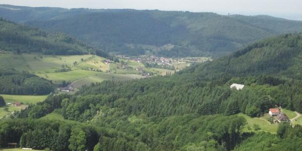 Aussicht auf Seelbach oben vom Treppenturm