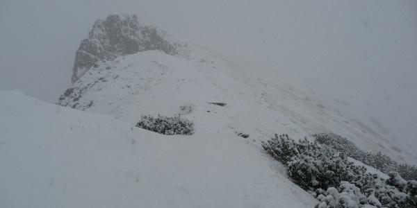 Schneefall auf 2000 Meter
