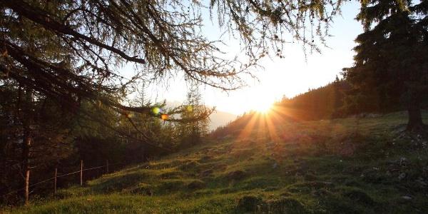 Sonnenuntergang auf der Unterwandalm
