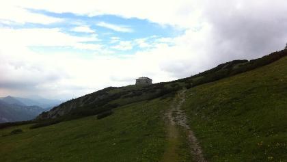 Weg vom Karl-Ludwig-Haus. Knapp vor dem Habsburghaus