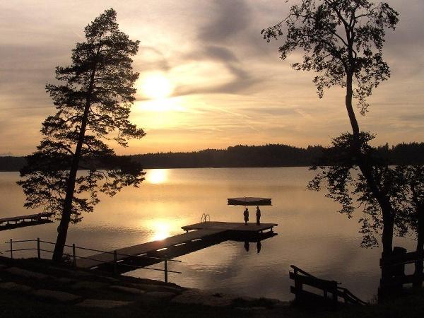 Hartsee bei Sonnenuntergang