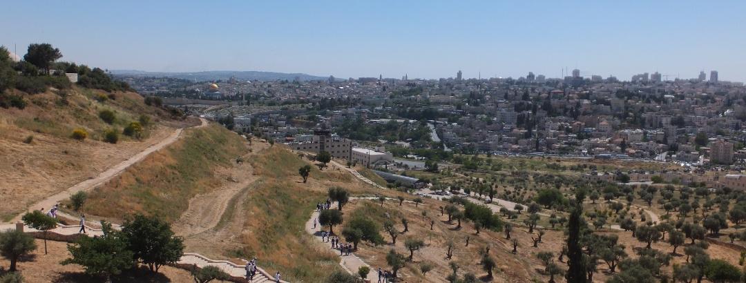 Blick vom Skopusberg nach Jerusalem