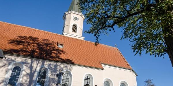 Wanderung - Hungerbach-Rundweg - Kirche in Eglfing