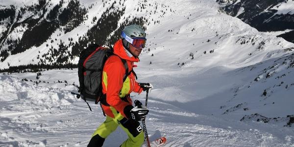 Schneegrubenspitze: Einfahrt in die Nordabfahrt