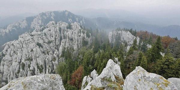 Bijele stijene u magli