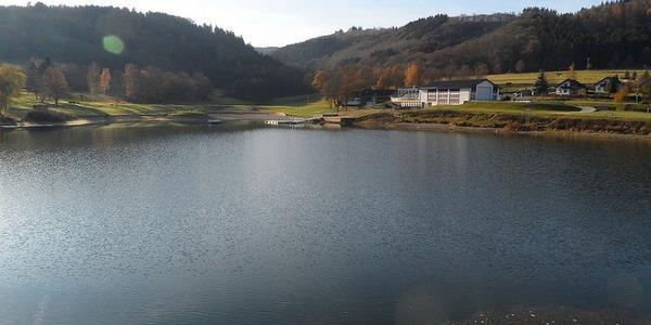 Rurberg, Blick auf Staudamm
