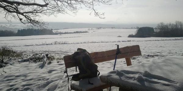 Rastplatz im Winter
