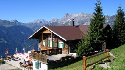 Ausflugsziel Rellseck mit dem Alpengasthaus