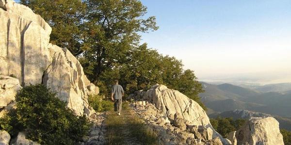 Građena staza na Kamenjaku