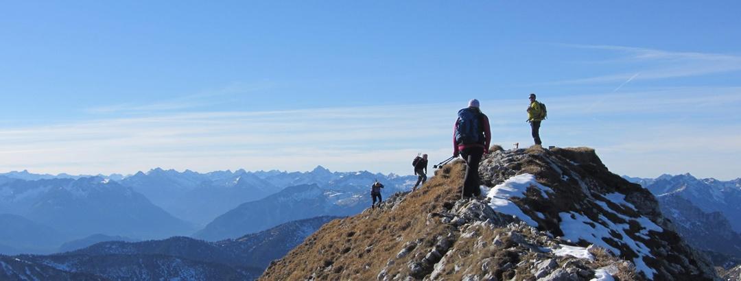 Bergtour - Hochplatte - Gipfelgrat