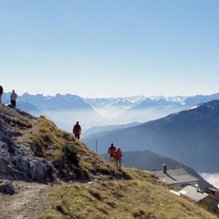 Bergtour Heimgarten-Runde - Ausblick vom Heimgarten
