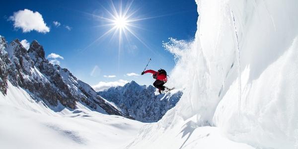 Skifahren auf der Zugspitze