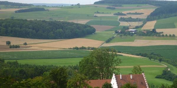 Blick über den Hewenhof zum Alten Postweg