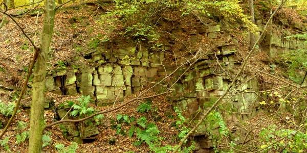 alte Steinbrüche bei Blankenau