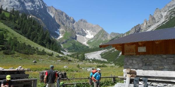 At the alpine hut Oberlochalm