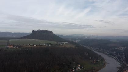 Elbe und Lilienstein (von der Festung aus aufgenommen)